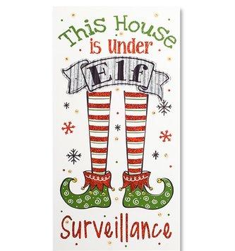 Light Up Elf Surveillance Sign