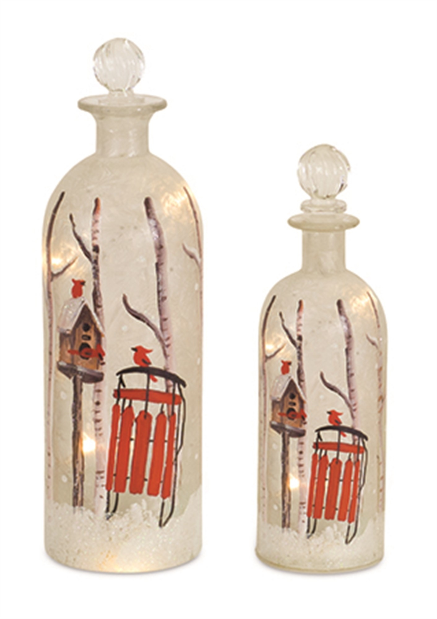 Light Up Frosted Forest Bottle