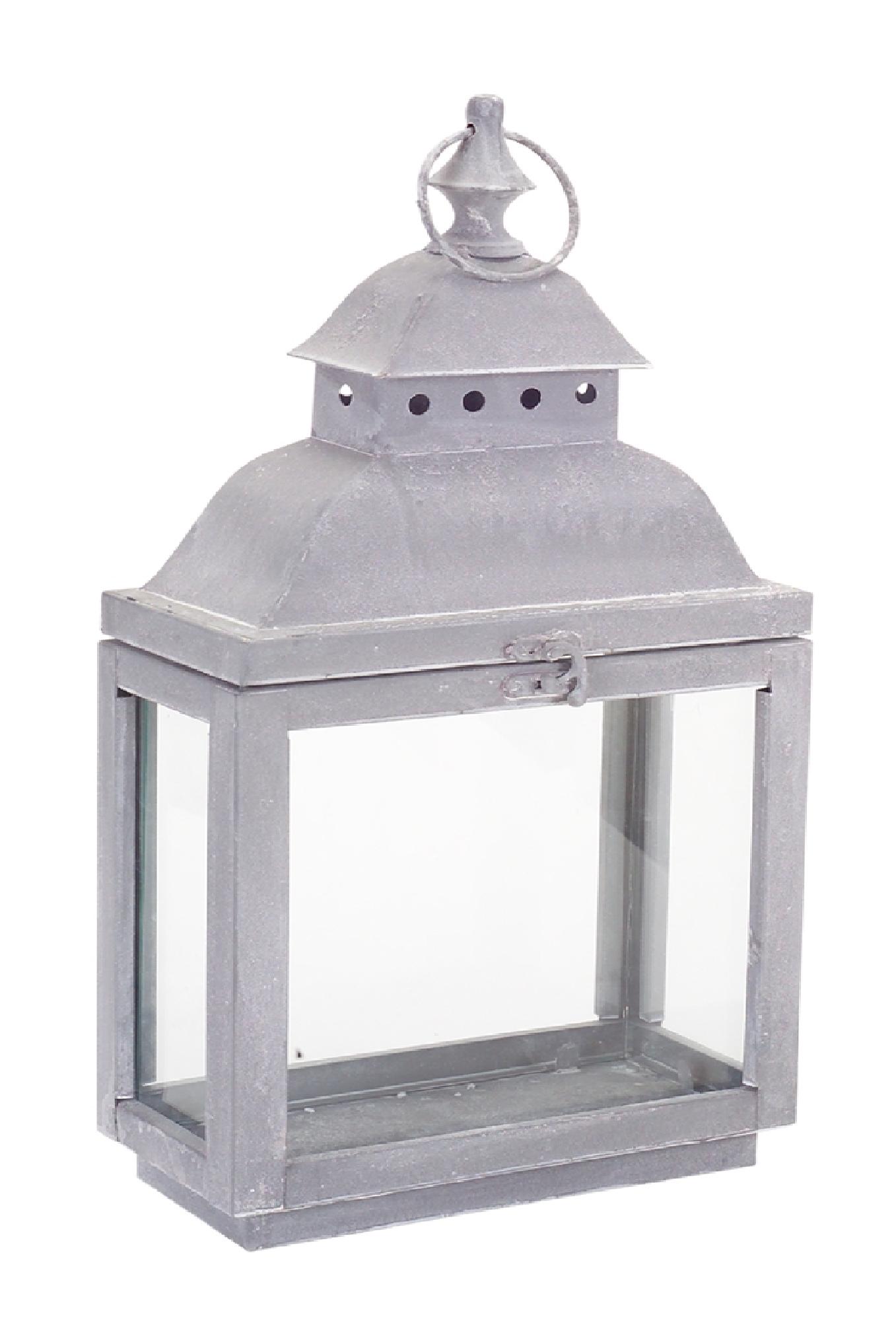 Gray Metal Lantern