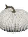 Large Chenille Weighted Pumpkin