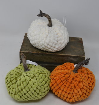 Small Chenille Weighted Pumpkin (3 Styles)
