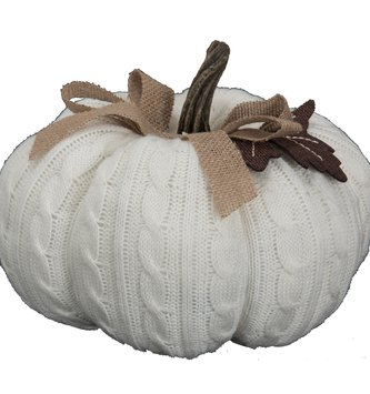 Large Cable Knit Weighted Pumpkin (2 Colors)