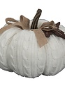 Large Cable Knit Weighted Pumpkin