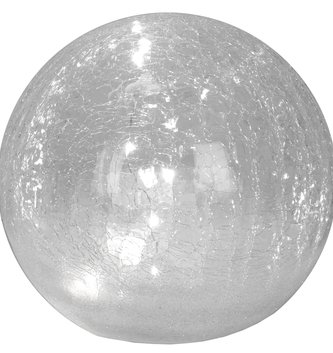 LED Glass Crackle Snowball