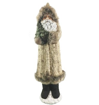 Large Birch Fur Coat Santa