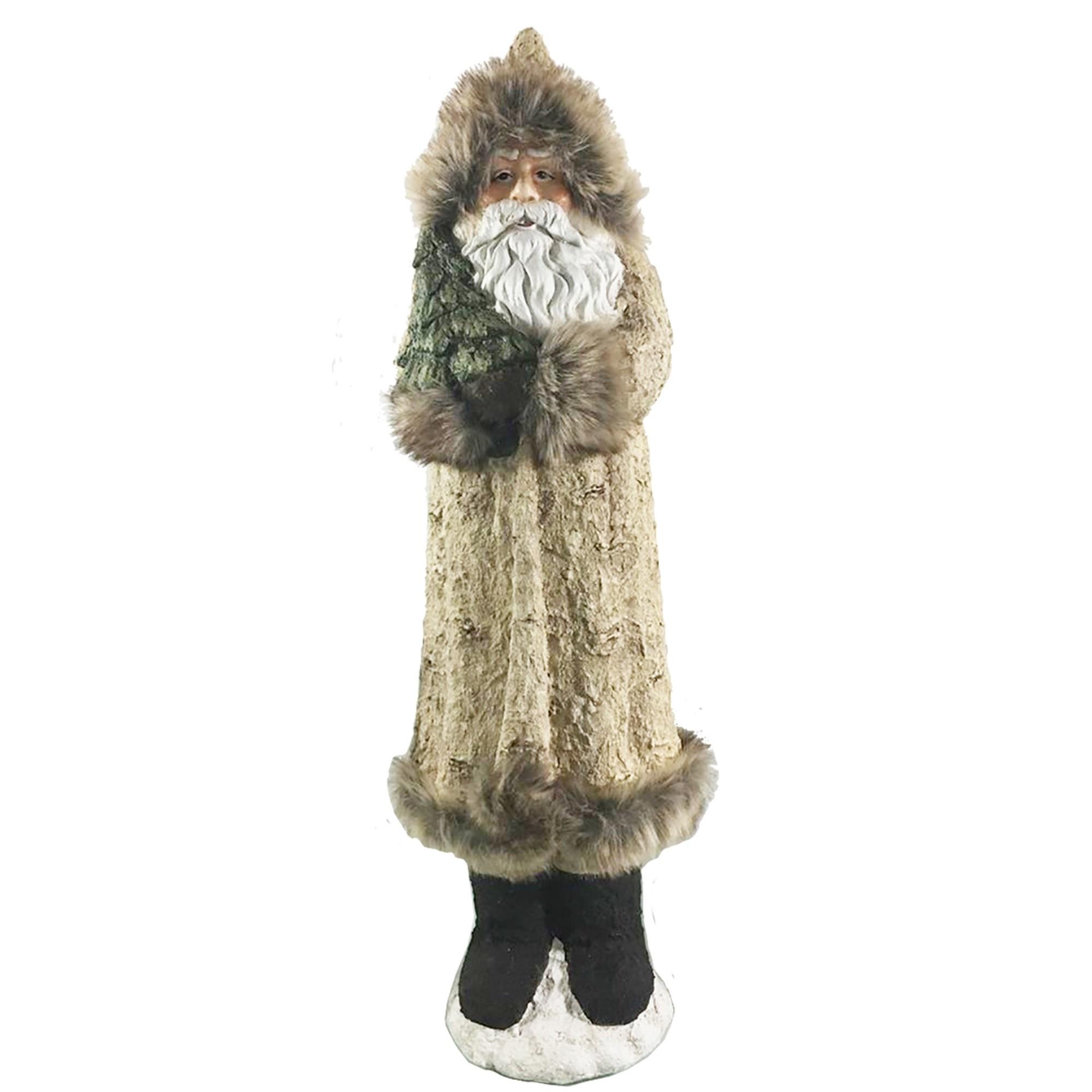 Large Birch Fur Coat Santa