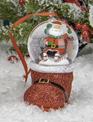 Santa Snow Globe Boot Ornament