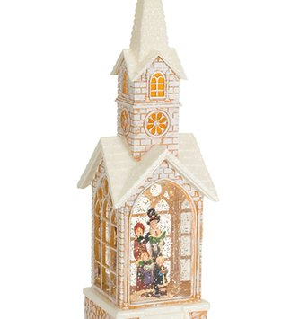 LED Church Carolers Snow Globe