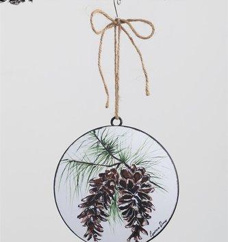 Pinecone Disk Ornament