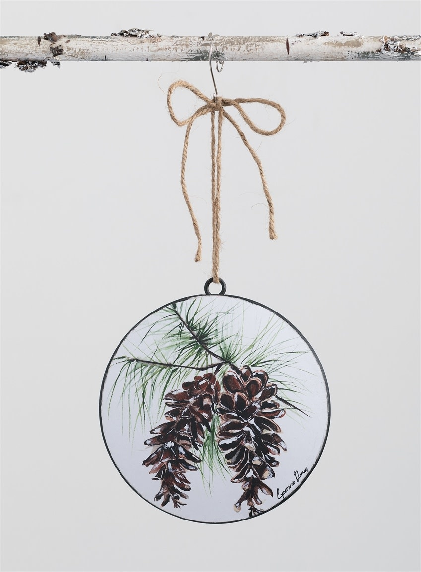 Pinecone Disk Ornament