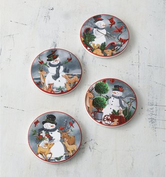 Set of 4 Frosty and Friends Coasters