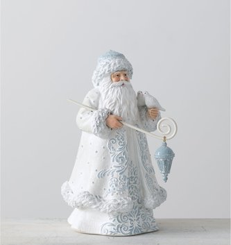 Blue and White Winter Santa