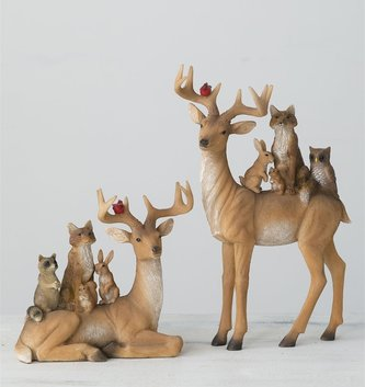 Deer With Forest Friends