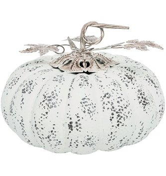 Rustic Whitewashed Metal Pumpkin (3 Size)