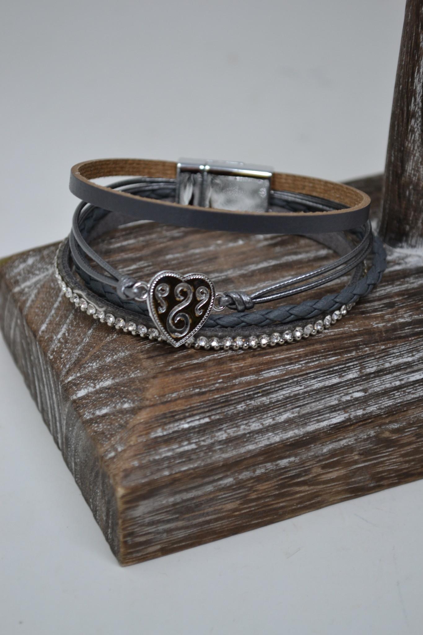Multi Strand Heart Bracelet