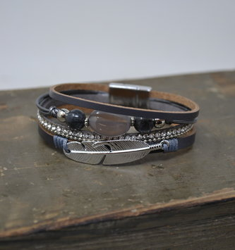 Multi Strand Feather Bracelet (3-Colors)