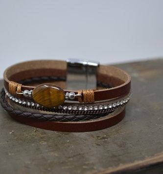 Multi Strand w/ Stone Bracelet