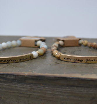 Multi Stone Amazing Grace Bracelet (2 Colors)