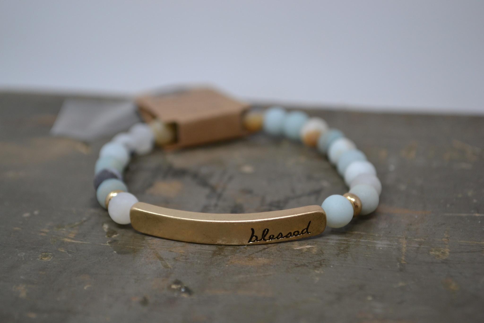 Multi Stone Green Blessed Bracelet