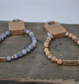 Multi Stone Love Bracelet (2 Colors)