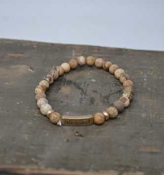 Multi Stone Brown Blessed Bracelet