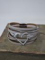 Heart Multi Strand Bracelet