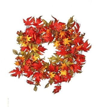 "22"" Harvest Leaf & Berry Wreath"