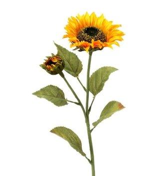 """28"""" Sunflower Stem w/ Bud"""