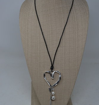 Heart Necklace w/ Charms