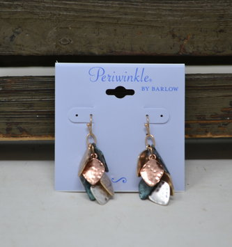 Hammered Multi-Leaf Earrings