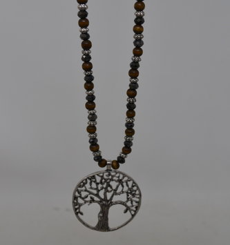 Beaded Tree of Life Necklace Set