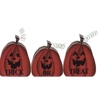 Trick or Treat Pumpkin Block Trio