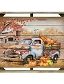 Framed Harvest Farm Truck Wall Art