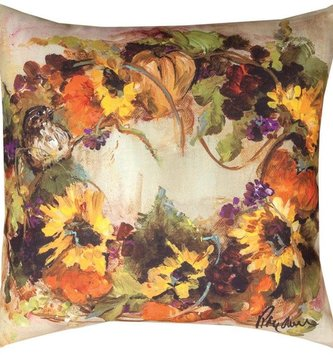 Sunflower Wreath Pillow Indoor/Outdoor