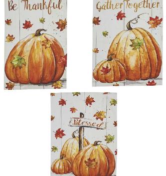 Harvest Pumpkin Towel ( 3 Styles)