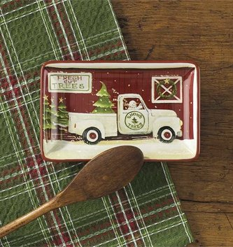 Vintage Truck Christmas Tray
