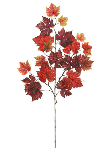 """40"""" Autumn Grape Leaf Spray"""