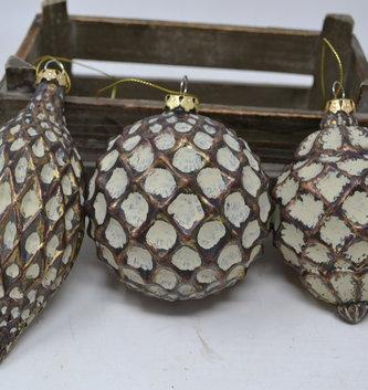 Antique Bronze Textured Ornament (3 Styles)