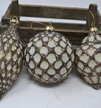 Antique Bronze Textured Ornament (3 Styles)