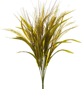 "21"" Golden Wheat Grass Bush"