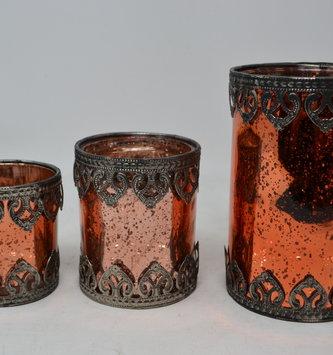 Copper Mercury Glass Votive Holder (3 Sizes)