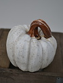 Small Carved Resin Pumpkin