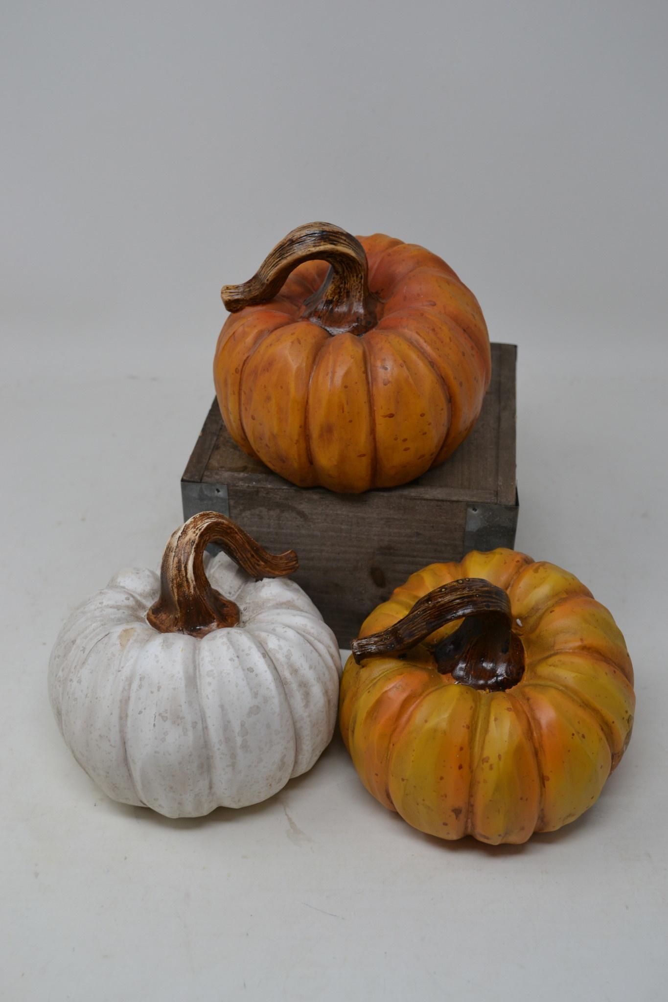 Large Carved Resin Pumpkin