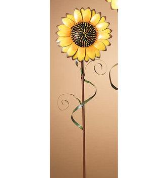 "31"" Metal Sunflower Stake"