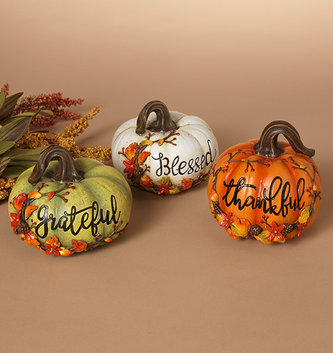 Fall Berry Message Pumpkin (3 Colors)