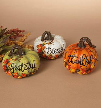 Fall Berry Message Pumpkin (3 Colors)