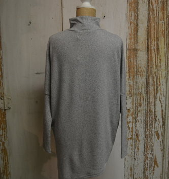 Asymmetrical Grey Knit Tunic