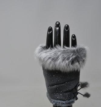 Shimmer Fur Texting Gloves
