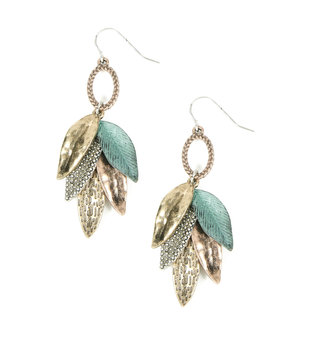 Vintage Mixed Metal Leaf Earrings
