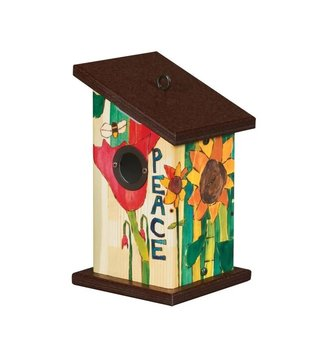 Peace Everywhere Small Birdhouse